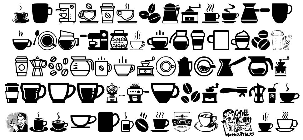 Coffee Icons písmo