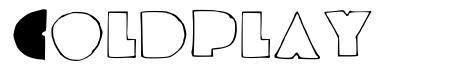 Coldplay font