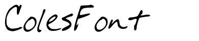 ColesFont font