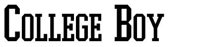 College Boy font