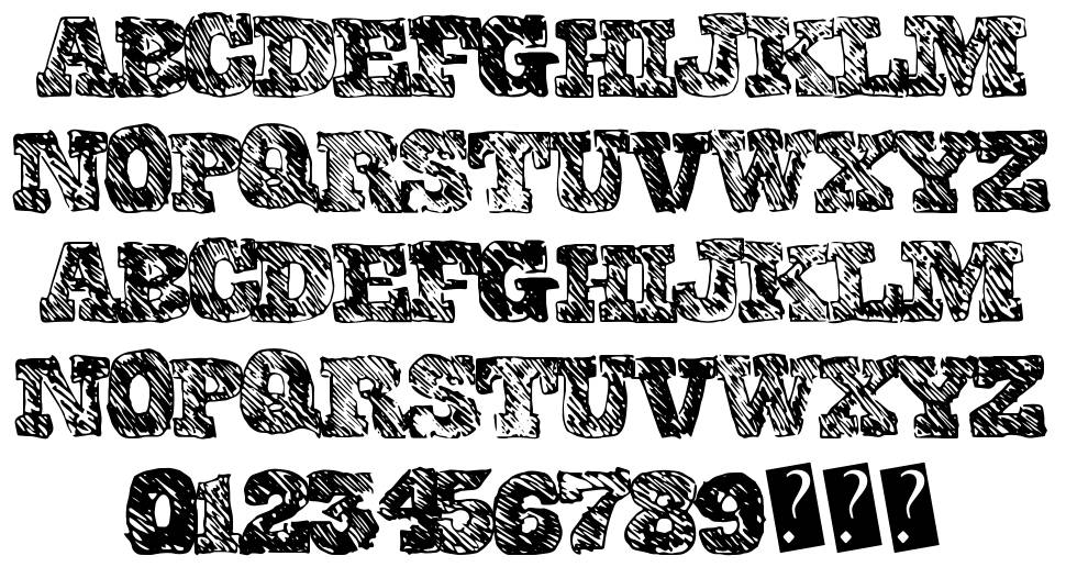 College Scribble font