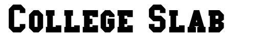 College Slab font