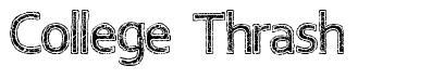 College Thrash font
