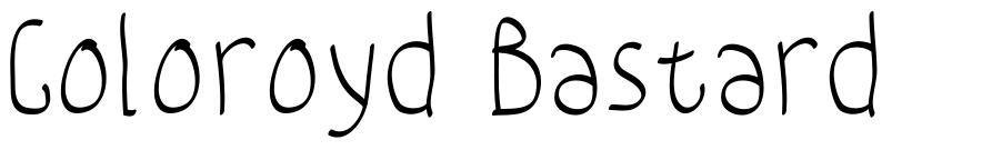 Coloroyd Bastard font