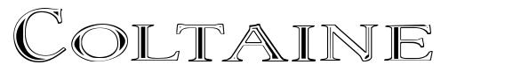 Coltaine font