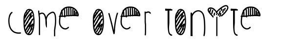 Come Over Tonite font