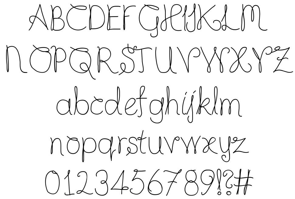 Completely Scripted font