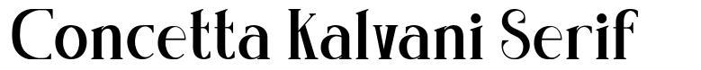 Concetta Kalvani Serif