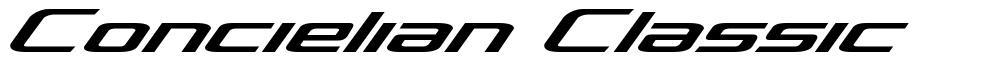 Concielian Classic font