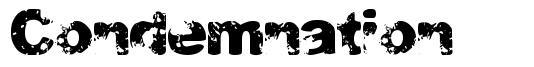 Condemnation font