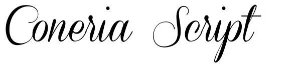 Coneria Script 字形