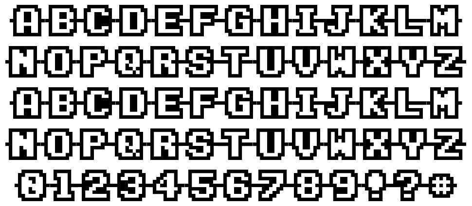 Connected Characters font