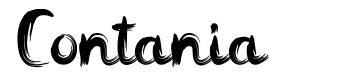 Contania font