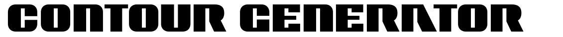 Contour Generator font