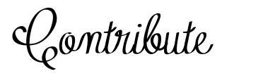 Contribute font