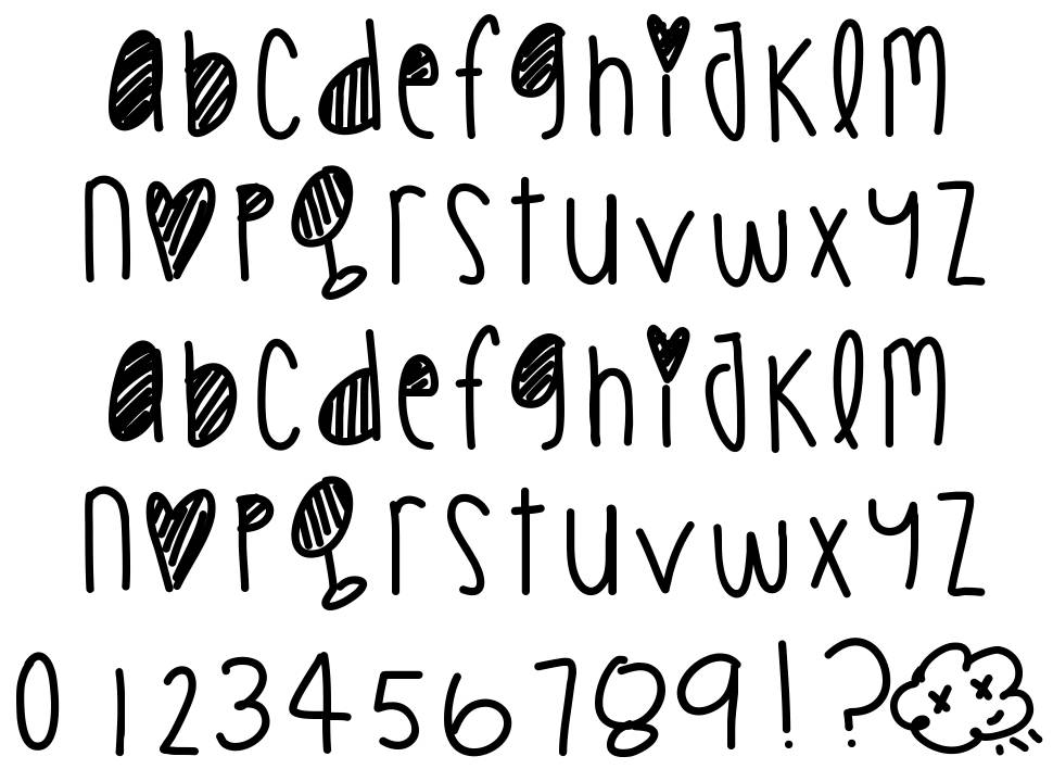 Cookie Chips font