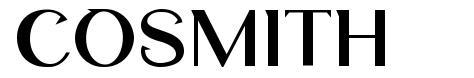 Cosmith шрифт