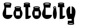 CotoCity font