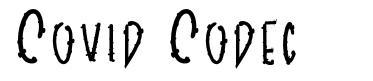 Covid Codec písmo