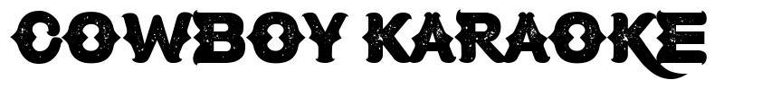 Cowboy Karaoke font