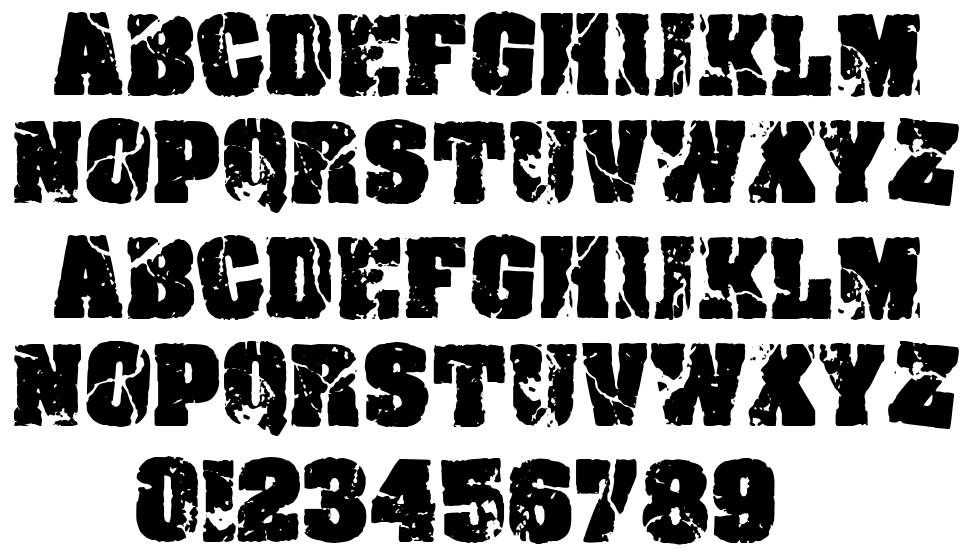 Crack and Bold font