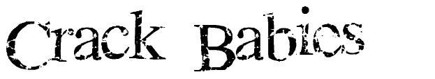 Crack Babies шрифт