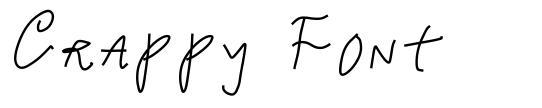 Crappy Font