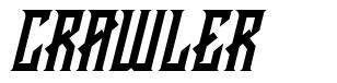 Crawler font