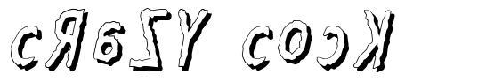 Crazy Cock font