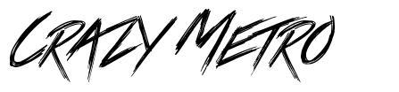 Crazy Metro шрифт