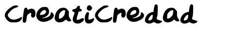 CreatiCredad font