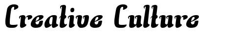 Creative Culture font