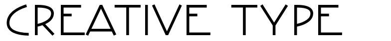 Creative Type font