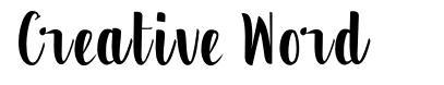 Creative Word шрифт