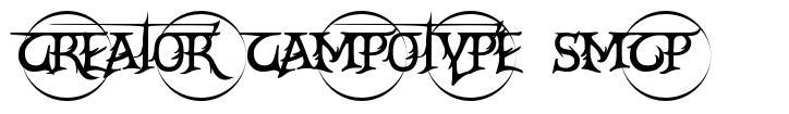 Creator Campotype Smcp 字形