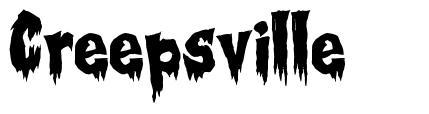 Creepsville font