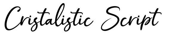 Cristalistic Script font