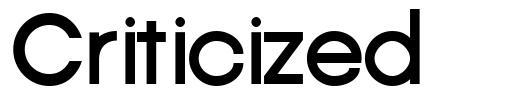 Criticized font