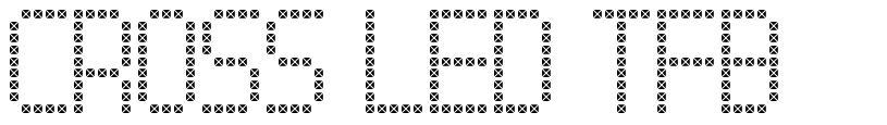 Cross Led TFB font