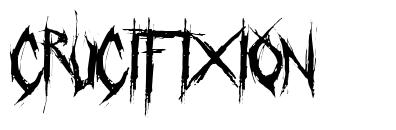 Crucifixion font