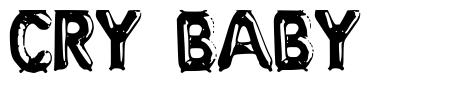 Cry Baby font