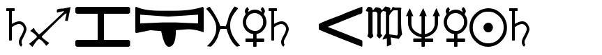 Cryptic Zodiac font