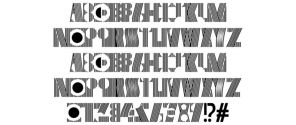 Cryptographic font