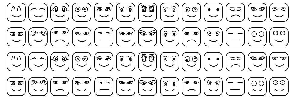 Cube Face ST font