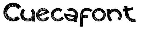 Cuecafont font