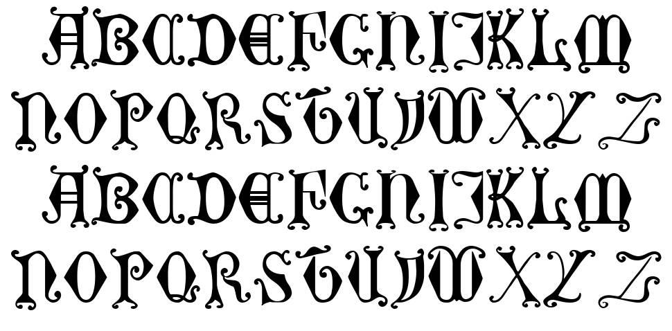 Curled Serif font