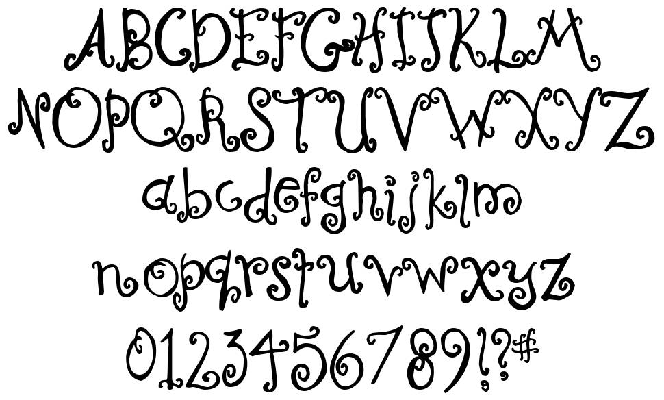 Curly Coryphaeus font