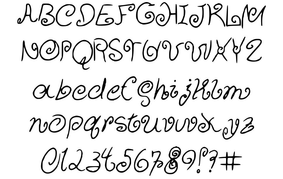 Curly Cuties font