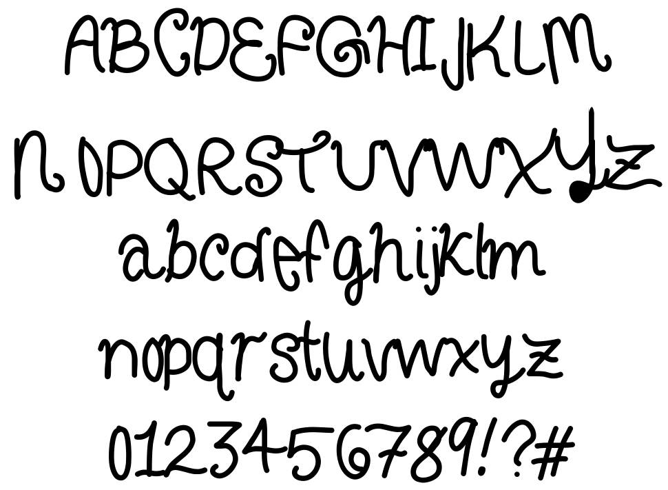 Curly Letters font