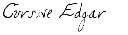 Cursive Edgar